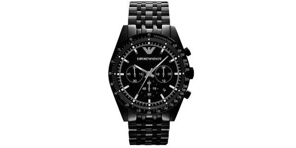 Pánske čierne hodinky Emporio Armani