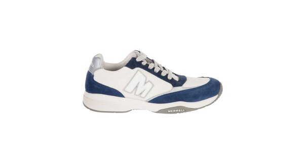 Pánske bielo-modré tenisky Merrell