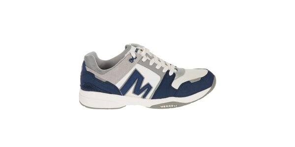Pánske modro-biele športové tenisky Merrell