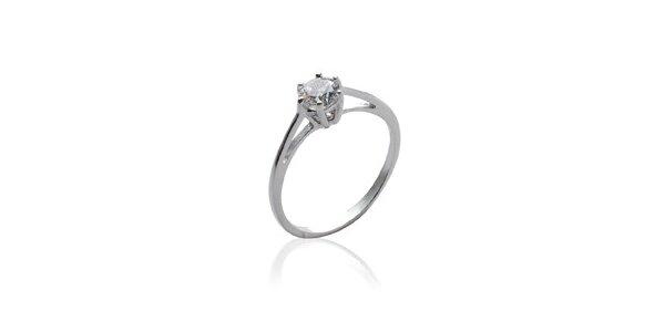Dámsky strieborný zásnubný prsteň so zirkónom La Mimossa