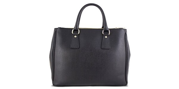 Dámska čierna obdĺžniková kabelka Roberto Buono