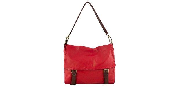 Dámska červená kabelka aktovka Roberta Buono