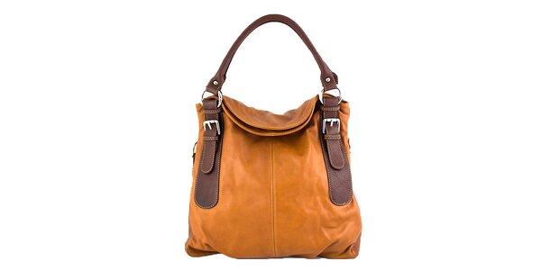 Dámska koňakovo hnedá taška Roberto Buono