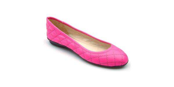 Dámske ružové prešívané baleríny Keddo