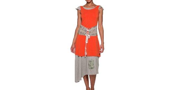 Dámske dlhé oranžové šaty Ian Mosh