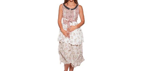 Dámske dlhé nariasené šaty s potlačou Ian Mosh