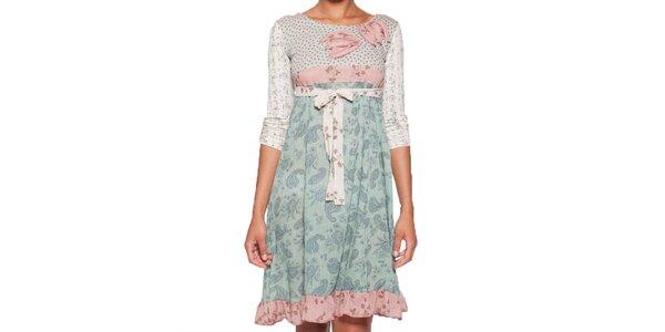 Dámske šaty s volánikom a mašľou v páse Ian Mosh