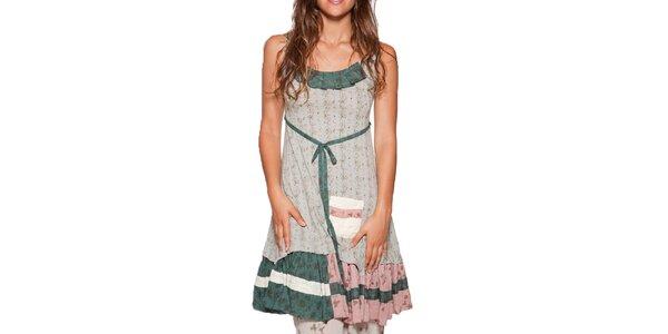 Dámske krátke kvetované šaty s volánom Ian Mosh