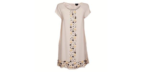 Dámske krémové šaty Miss Sixty s korálkami
