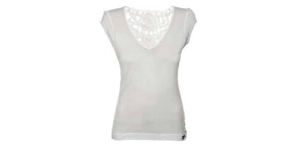 Dámske biele tričko Miss Sixty s čipkovým chrbtom