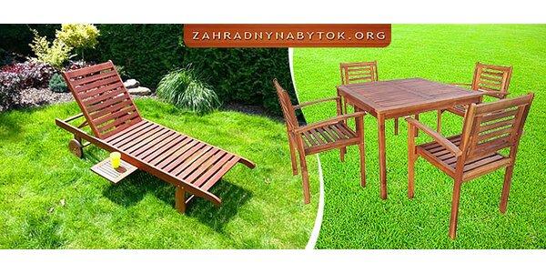Záhradný nábytok z kvalitného dreva