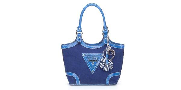 Dámska modrá kabelka Guess