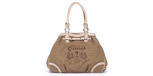 Dámska hnedo-béžová kabelka Guess