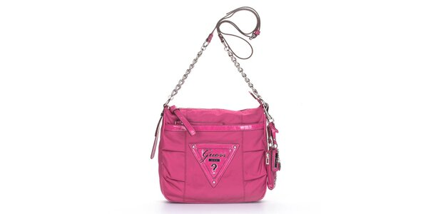 Dámska ružová kabelka Guess s retiazkou