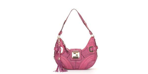 Dámska malá ružová kabelka Guess