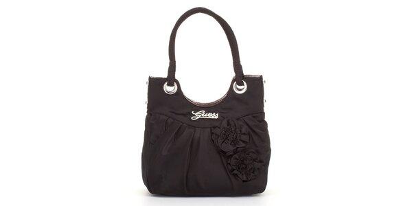 Dámska čierna kabelka Guess s ružami