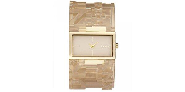 Dámske náramkové hodinky s obdĺžnikovým ciferníkom DKNY