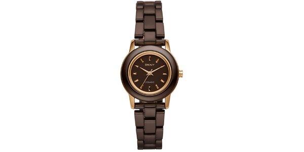 Dámske hnedé hodinky DKNY
