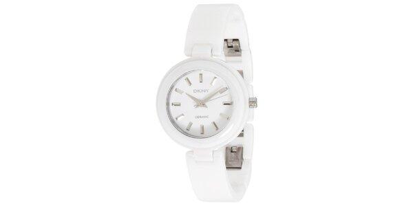 Dámske biele keramické hodinky DKNY