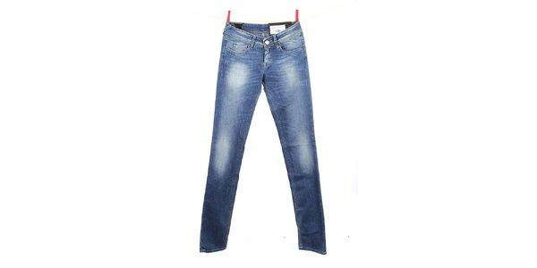 Dámske modré šisované džínsy Gas