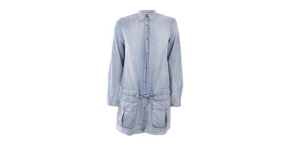 Dámske svetlé džínsové šaty Gas