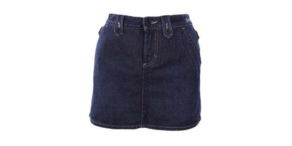 Dámska tmavá džínsová minisukňa Gas