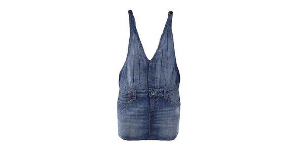 Dámska džínsová sukňa s trakmi Gas