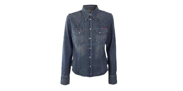 Dámska vintage džínsová košeľa Gas