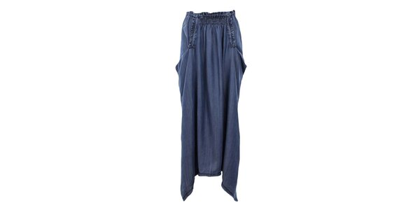 Dámska voľná modrá džínsová sukňa Gas