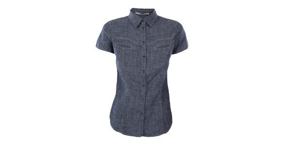 Dámska žíhaná džínsová košeľa Gas