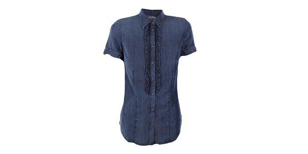 Dámska džínsová košeľa so žabó Gas