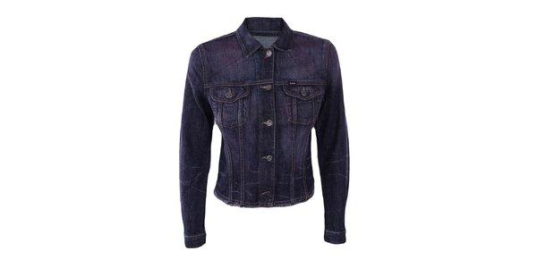 Dámska nafialovelá džínsová bunda Gas