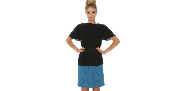 Dámske modro-čierne šaty Pepa Loves
