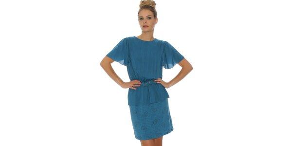 Dámske modré šaty Pepa Loves