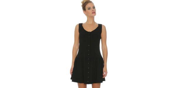 Dámske čierne šaty s gombíkmi Pepa Loves