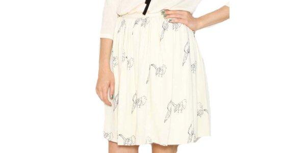 Dámska sukňa s vtáčikmi Pepa Loves
