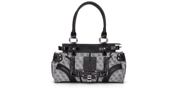 Dámska šedo-čierna kabelka Guess