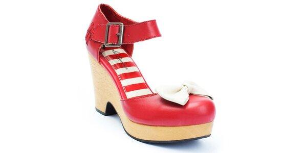 Dámske červené topánky s mašľou Lola Ramona