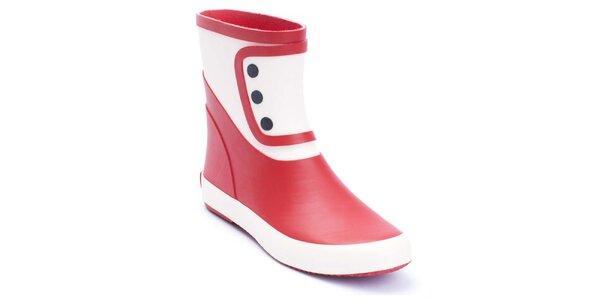 Dámske červeno-biele gumáky Lola Ramona
