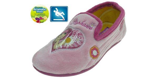 Detské ružové papučky Beppi s vôňou