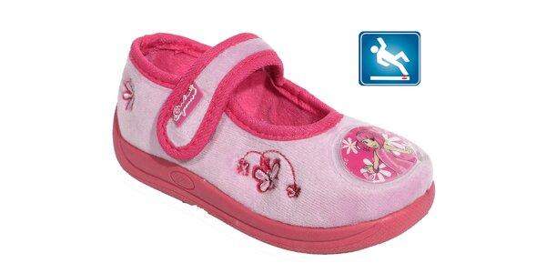 Detské ružové papučky Beppi