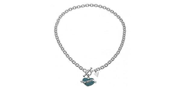 Dámsky náhrdelník Guess so srdiečkom