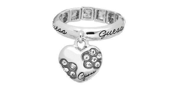 Dámsky ocelový prsteň Guess so srdiečkom