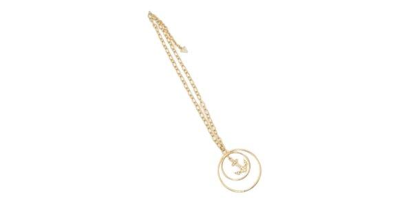 Dámsky ocelový náhrdelník Guess s kotvou