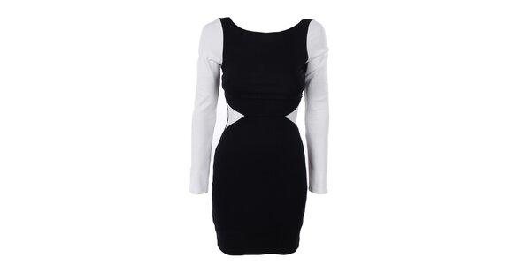 Dámske čierno-biele šaty Estella