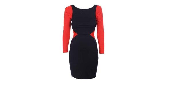 Dámske čierno-červené šaty Estella