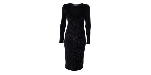 Dámske čierne sametové šaty Estella