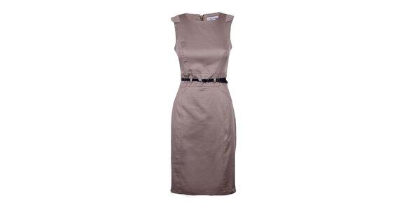Dámske svetlo hnedé púzdrové šaty Estella