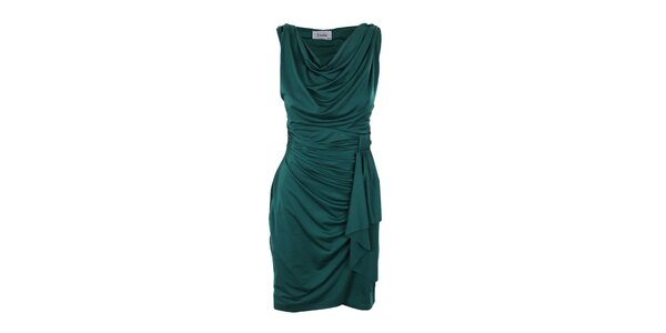 Dámske tmavo zelené šaty Estella