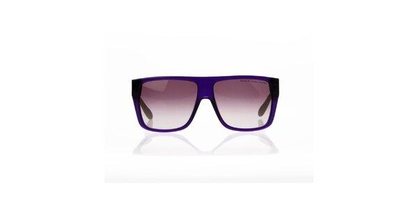 Unisex fialovo-zelené okuliare s bodkami Marc Jacobs